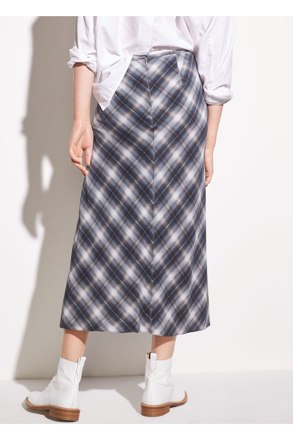 8be22422e6cf6d Shadow Plaid Side Drape Silk Skirt by Vince at ORCHARD MILE