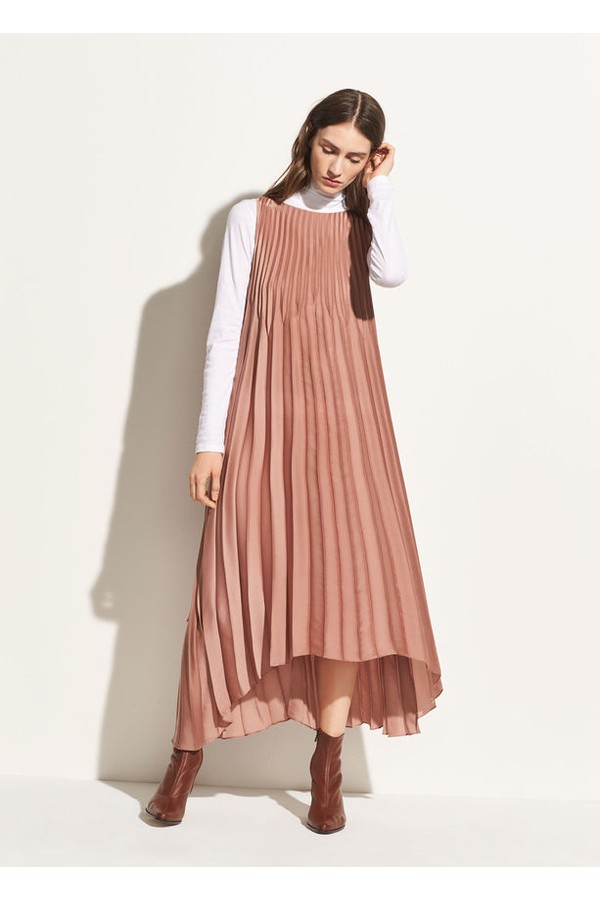 f6393c4f2534e Chevron Pleated Dress by Vince at ORCHARD MILE