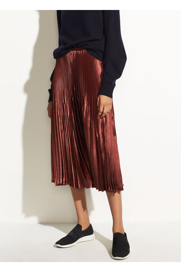 bfc41ec0cc Chevron Pleated Skirt by Vince at ORCHARD MILE