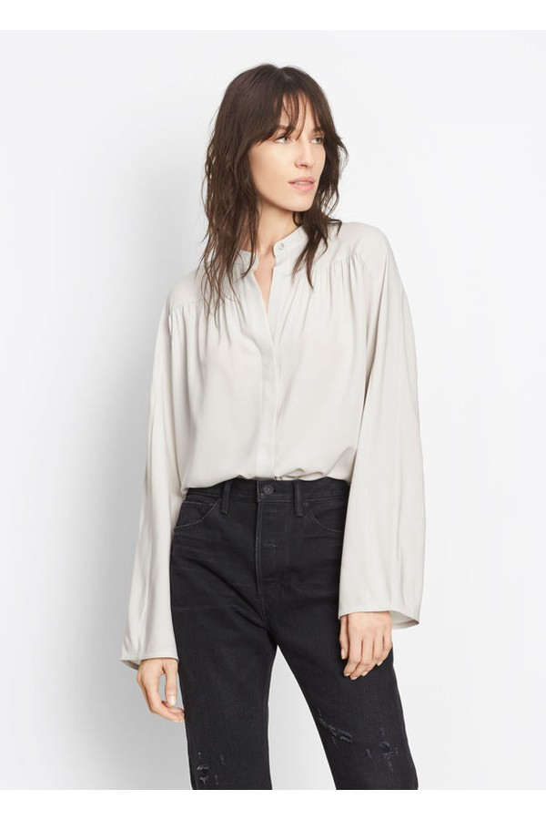 29ceba53495418 Shirred Full Sleeve Blouse by Vince at ORCHARD MILE