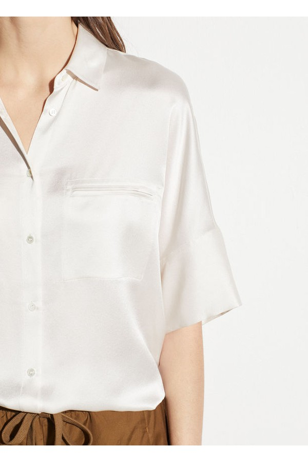 353839a2059f2c Short Sleeve Silk Blouse by Vince at ORCHARD MILE