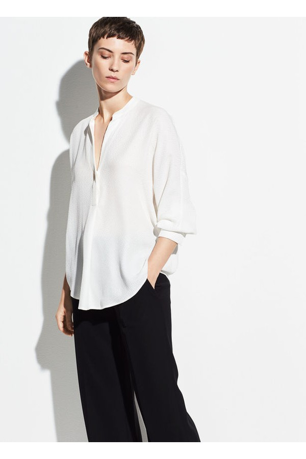 a1cedbb8fffed8 Dot Silk-Jacquard Popover by Vince at ORCHARD MILE