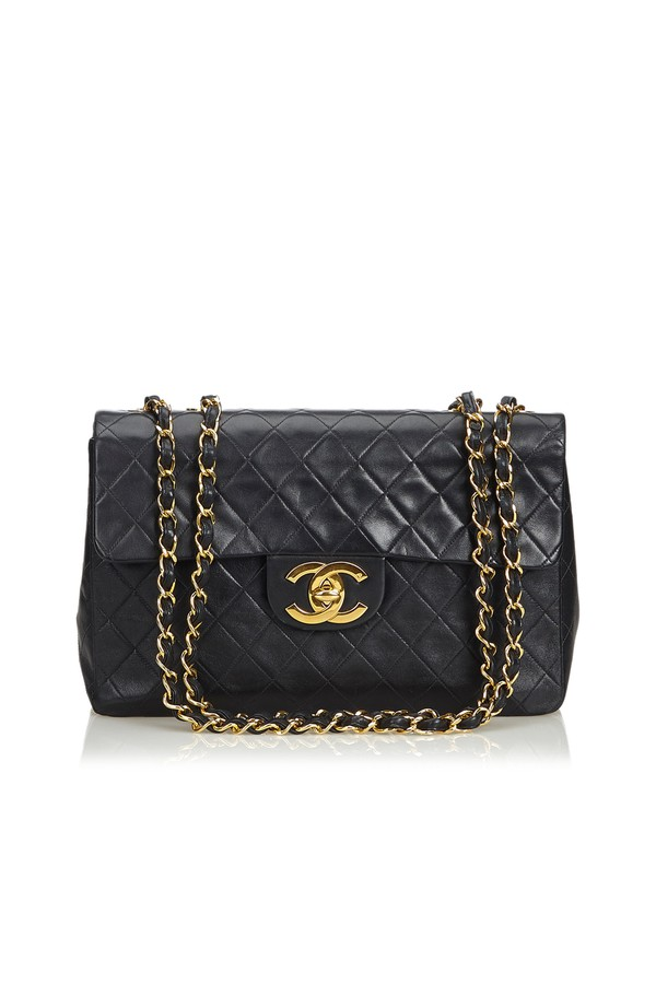 962164b128b1 Classic Maxi Lambskin Leather Single Flap Bag by Vintage Chanel at...