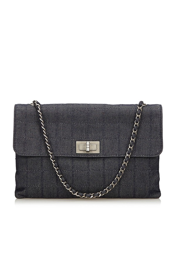 ccbcb929c0dc Choco Bar Denim Reissue Bag by Vintage Chanel at ORCHARD MILE