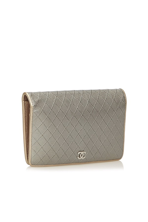 cba3d6bbdd63 Matelasse Leather Wallet by Vintage Chanel at ORCHARD MILE