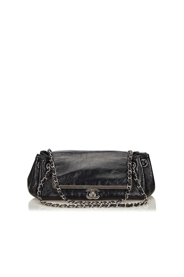 73bf19812a55 Leather Chain Flap Bag by Vintage Chanel at ORCHARD MILE