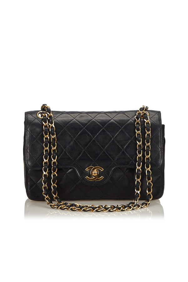05c699e6b94cc Classic Small Leather Double Flap Bag by Vintage Chanel at ORCHARD...