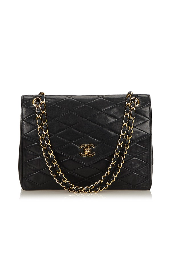 8df7070fff7 Matelasse Leather Chain Flap Bag by Vintage Chanel at ORCHARD MILE