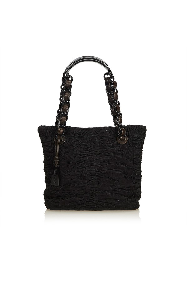 2d4a495accbfa4 Fur Tote Bag by Vintage Chanel at ORCHARD MILE
