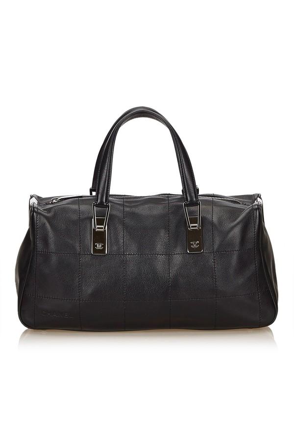 2eb6754da776f8 Choco Bar Leather Handbag by Vintage Chanel at ORCHARD MILE