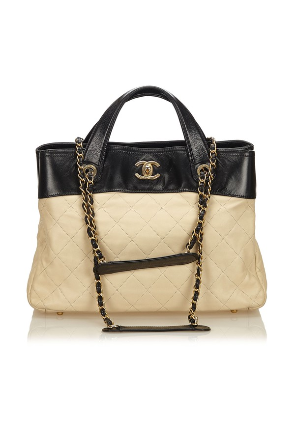 3c0d3bea0840b2 Quilted Calfskin In The Mix Satchel by Vintage Chanel at ORCHARD MILE