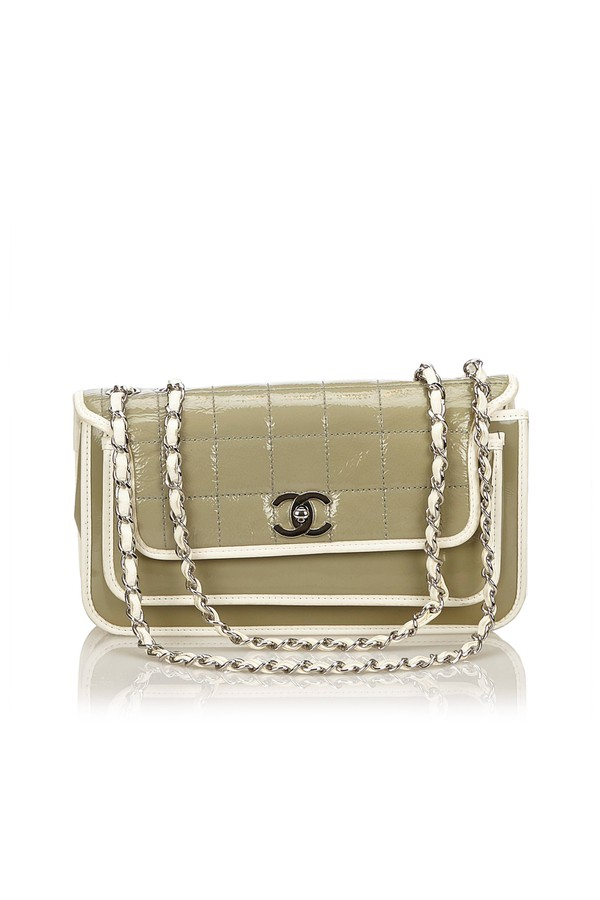 a2dc881493e5 Patent Leather Flap Bag by Vintage Chanel at ORCHARD MILE