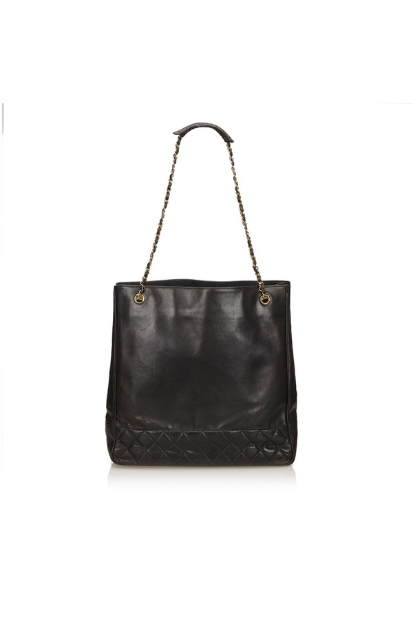 e2d35c96f83d04 Lambskin Chain Tote Bag by Vintage Chanel at ORCHARD MILE
