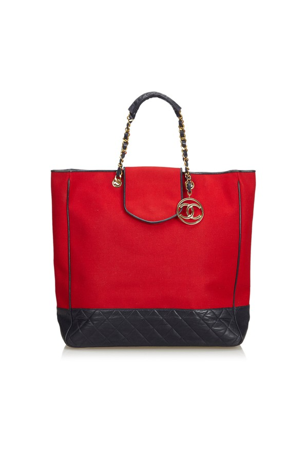 c8117dd2ef58ff Cotton Tote Bag by Vintage Chanel at ORCHARD MILE