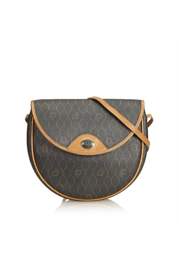 e2841e2823d1 Honeycomb Coated Canvas Crossbody Bag by Vintage Dior at ORCHARD MILE