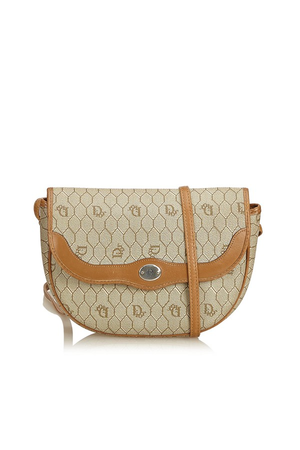 bab1fa0d67c4 Honeycomb Canvas Crossbody Bag by Vintage Dior at ORCHARD MILE