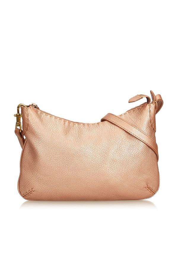 f8817e58b84e Selleria Leather Crossbody Bag by Vintage Fendi at ORCHARD MILE