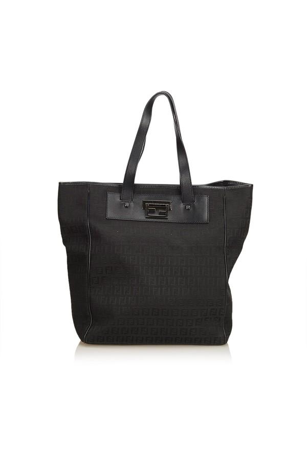 619a6dbdf65f2 Zucchino Jacquard Tote Bag by Vintage Fendi at ORCHARD MILE
