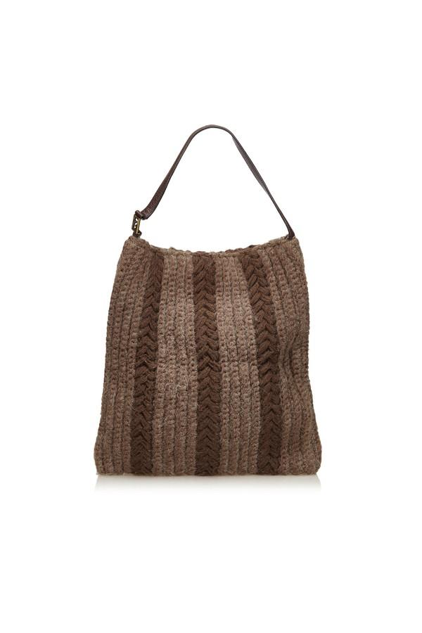 e2898524ec Wool Hobo Bag by Vintage Fendi at ORCHARD MILE