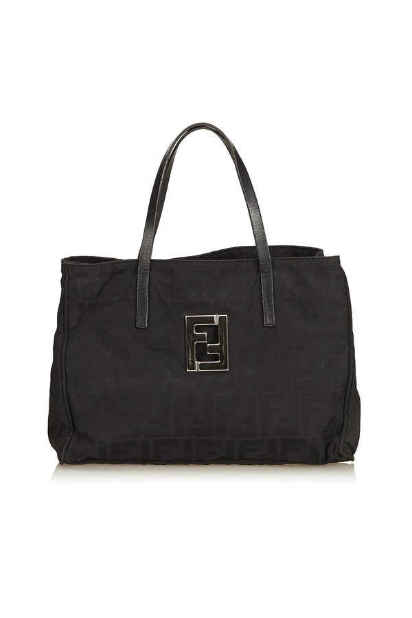 Zucca Canvas Tote Bag by Vintage Fendi at ORCHARD MILE 25887a222e