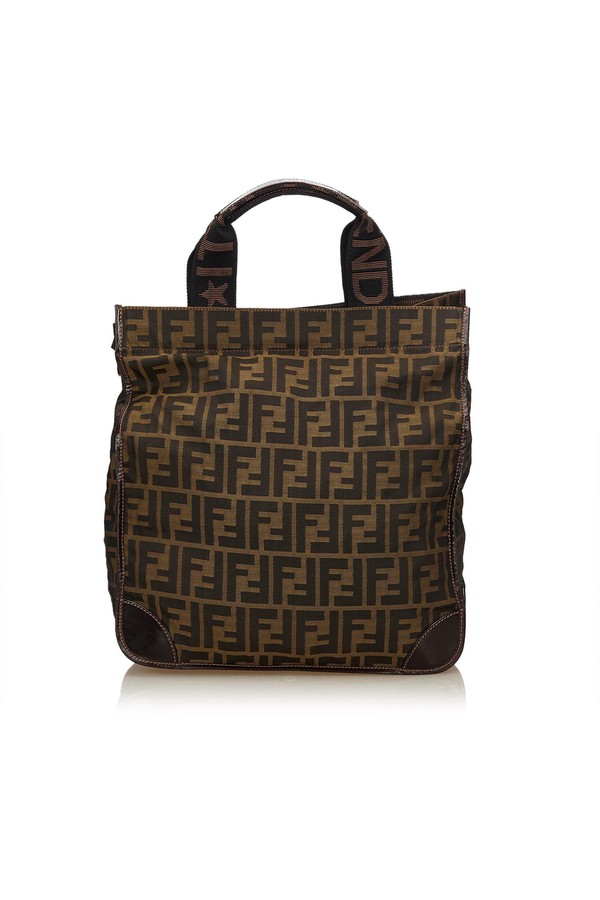 Zucca Jacquard Tote Bag by Vintage Fendi at ORCHARD MILE b19b17d68fb77