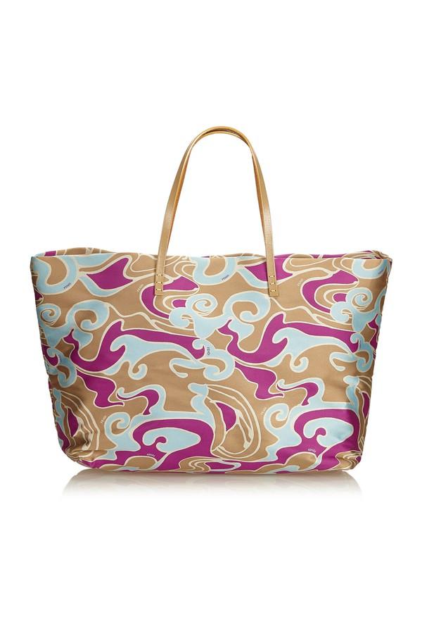 5730148be82b Printed Jacquard Tote Bag by Vintage Fendi at ORCHARD MILE