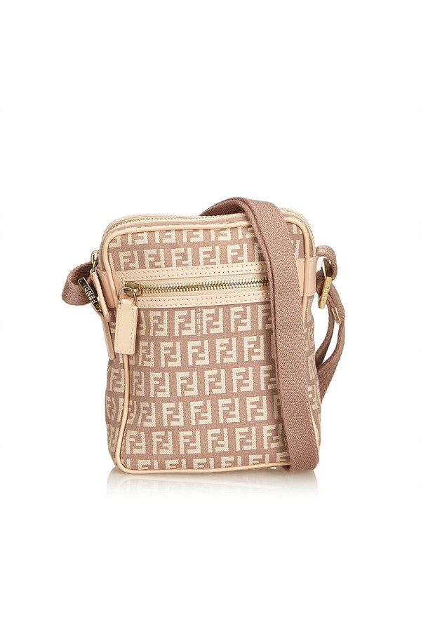 Zucchino Jacquard Crossbody Bag by Vintage Fendi at ORCHARD MILE 58e07a70b5c08