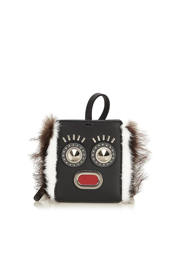 93beeaaf7767 Fur-Trimmed Monster Face Bag Tag by Vintage Fendi at ORCHARD MILE