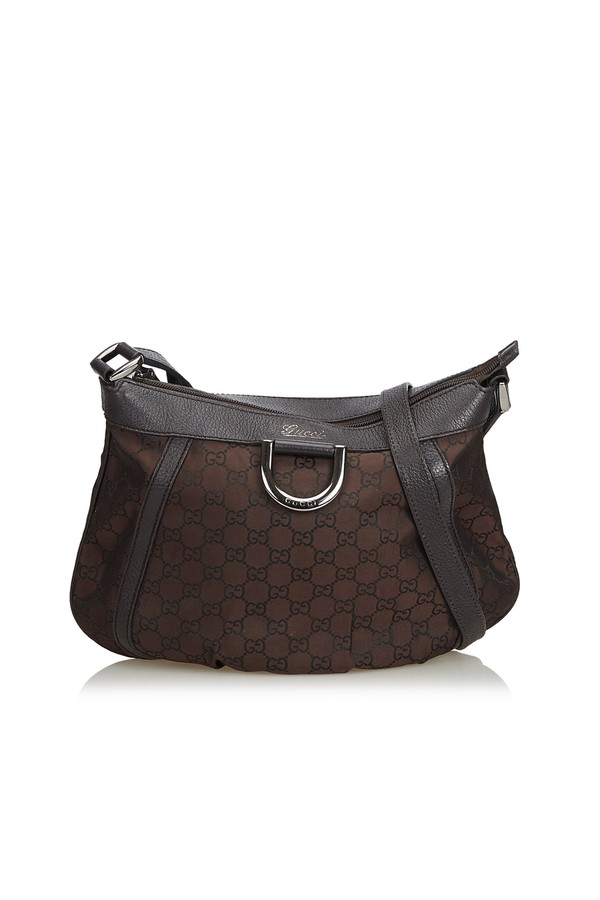 e815c833a62 Guccissima Canvas D-Ring Crossbody Bag by Vintage Gucci at ORCHARD...