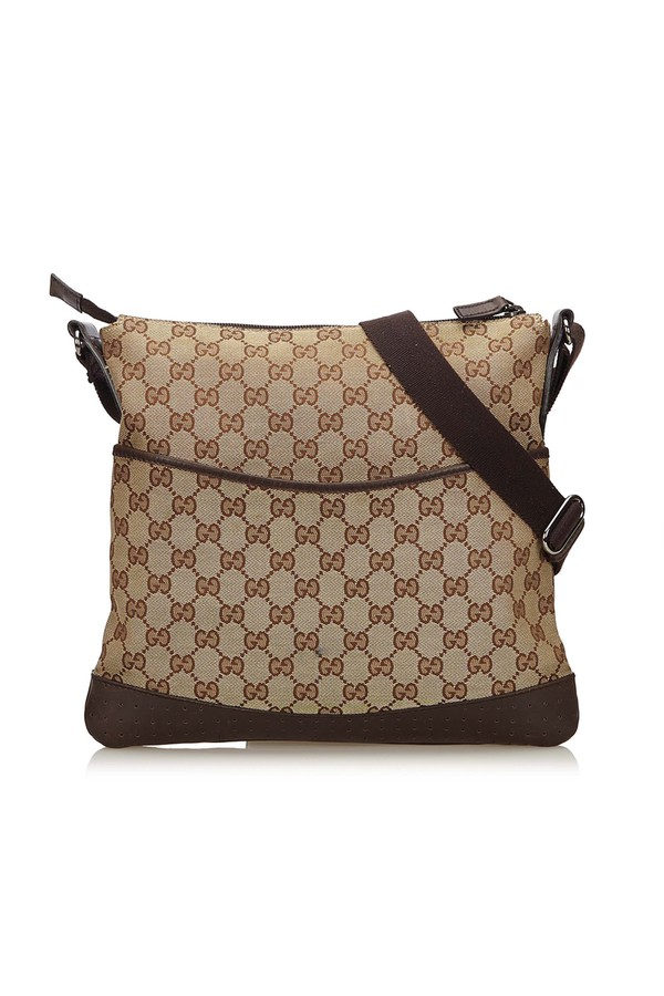 65eb0355318be3 Guccissima Canvas Crossbody Bag by Vintage Gucci at ORCHARD MILE