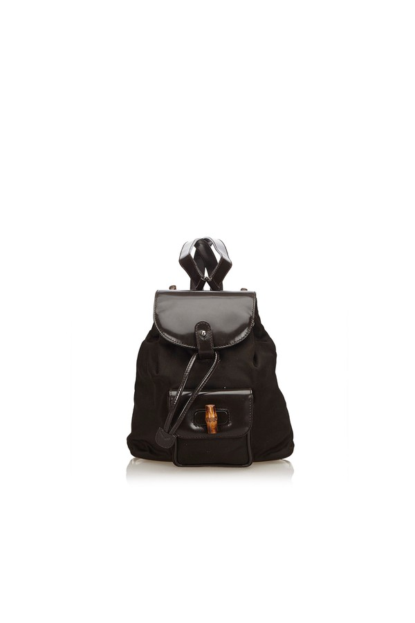 6950131dfd24 Bamboo Nylon Drawstring Backpack by Vintage Gucci at ORCHARD MILE