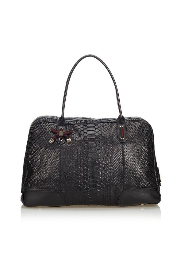 3990a536b860 Python Leather Princy Shoulder Bag by Vintage Gucci at ORCHARD MILE