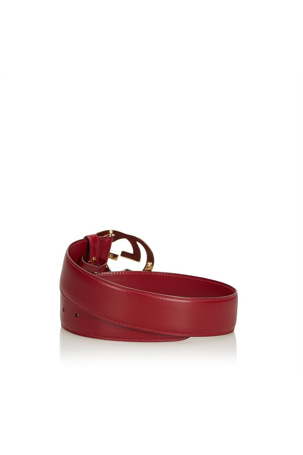 03e934e8f8b Double G Leather Belt by Vintage Gucci at ORCHARD MILE
