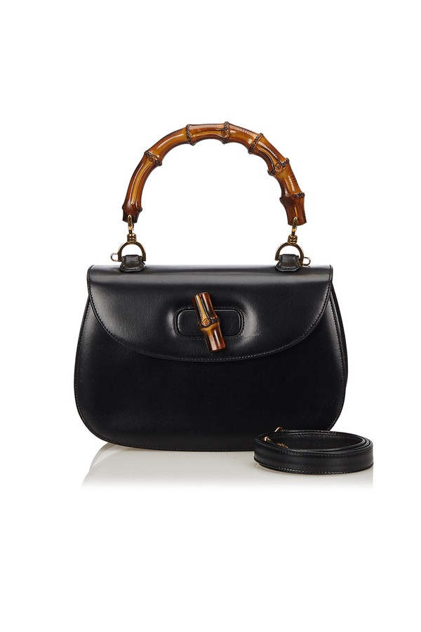 08edaadd202 Bamboo Leather Bag by Vintage Gucci at ORCHARD MILE
