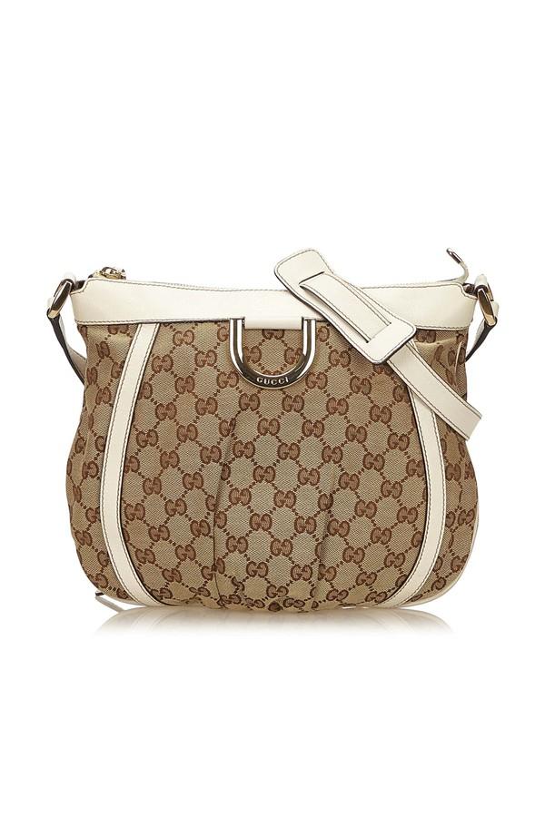 6ed41c301bc8 Guccissima Jacquard D-Ring Crossbody Bag by Vintage Gucci at...