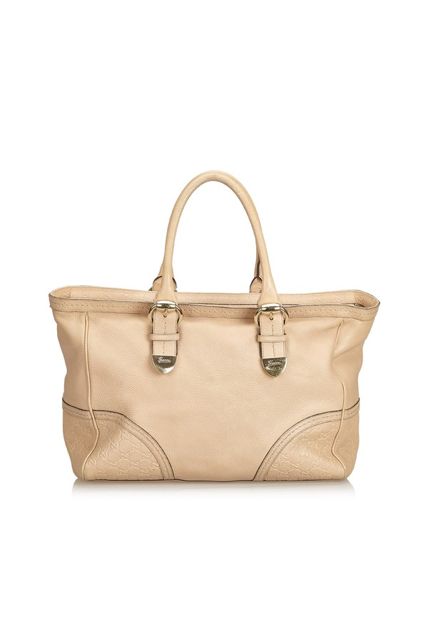 4b08d2d765d Leather Signoria Tote by Vintage Gucci at ORCHARD MILE