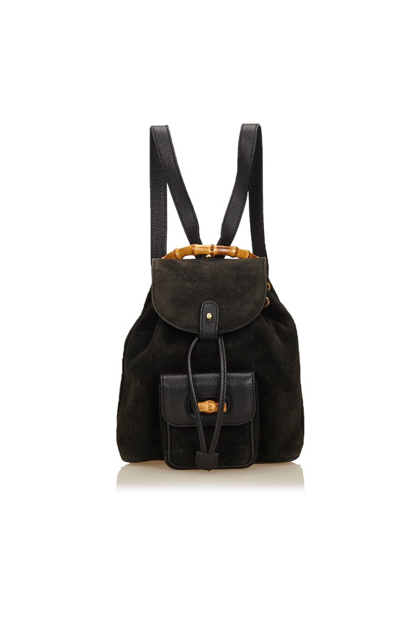 Suede Bamboo Backpack by Vintage Gucci at ORCHARD MILE 0eb1468236c0d