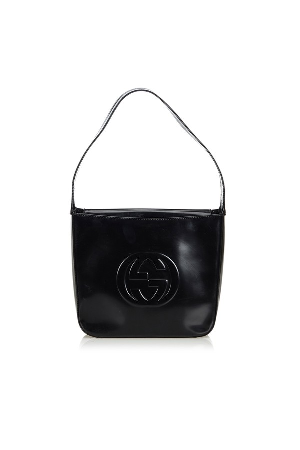 ce65a840ce9 Double G Patent Leather Shoulder Bag by Vintage Gucci at ORCHARD MILE