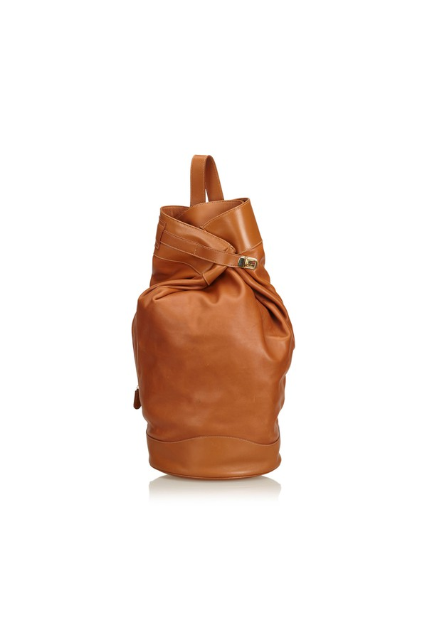 7688469ad704 Leather Sling Backpack by Vintage Gucci