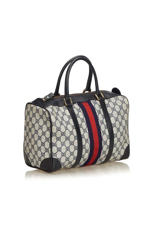 93f0cab9e216 Guccissima Web Canvas Boston Bag by Vintage Gucci at ORCHARD MILE