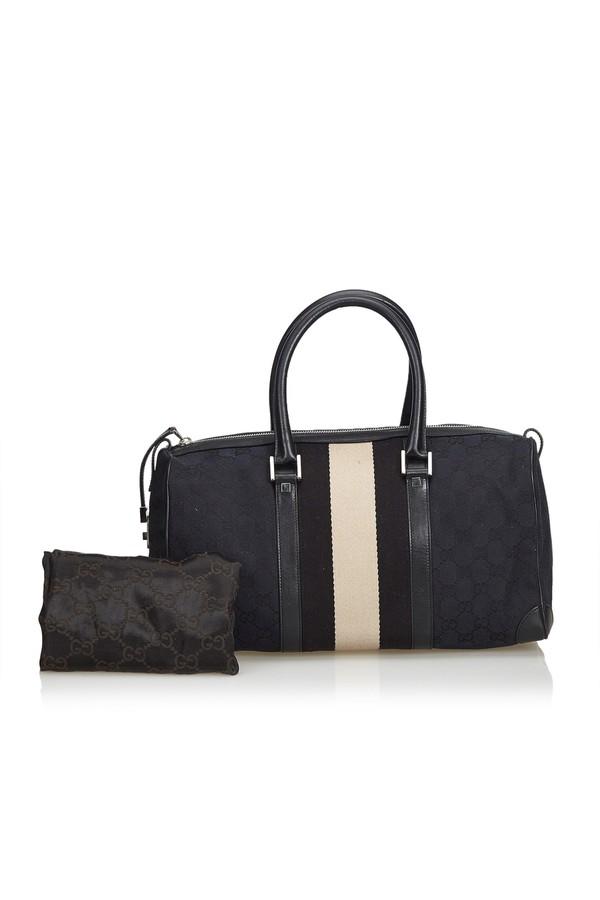 c20f4708f1ca Gg Web Jacquard Boston Bag by Vintage Gucci at ORCHARD MILE
