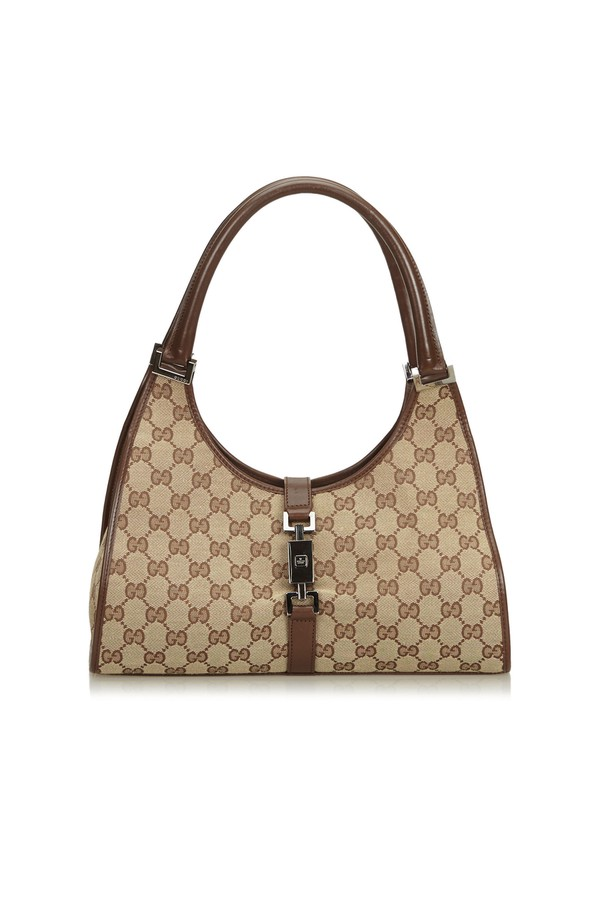 d65a0455846abb Jacquard Gg Jackie Shoulder Bag by Vintage Gucci at ORCHARD MILE