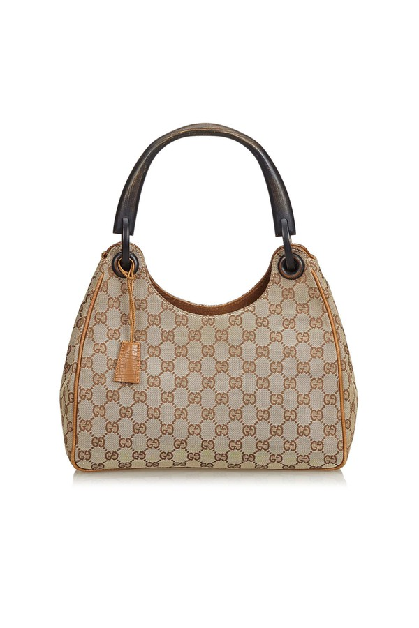87f1f787433 Guccissima Bamboo Canvas Handbag by Vintage Gucci at ORCHARD MILE