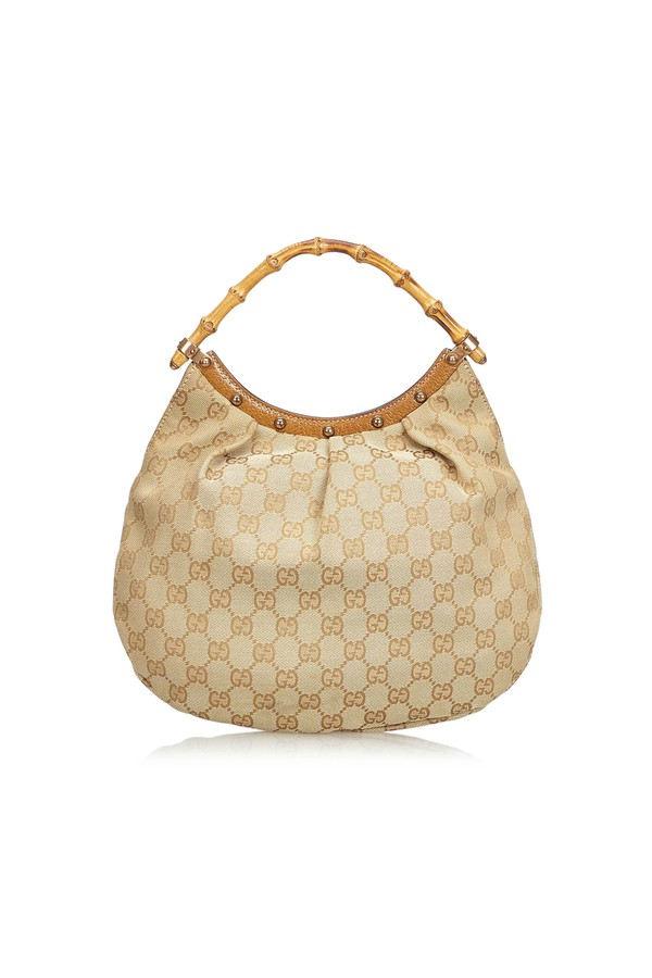 6485a1319f4 Bamboo Jacquard Handbag by Vintage Gucci at ORCHARD MILE