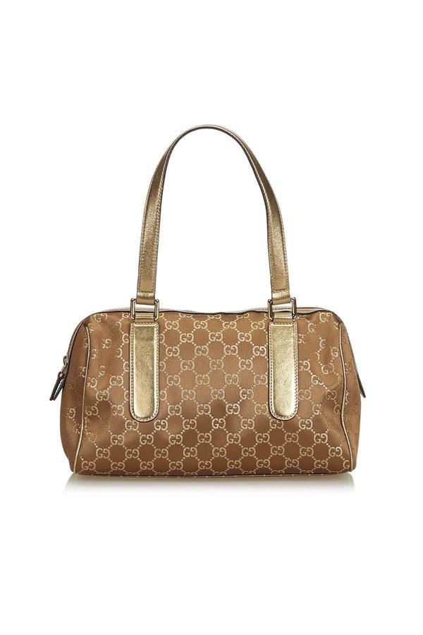 7cf78fb819a0 Gg Nylon Charmy Handbag by Vintage Gucci at ORCHARD MILE