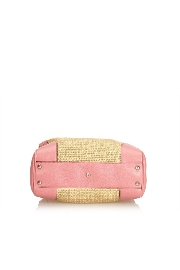 a4063cab1a0a24 Small Bamboo Straw Satchel by Vintage Gucci at ORCHARD MILE