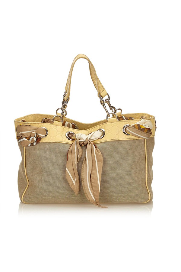 c13a5d4b612e98 Positano Scarf Tote by Vintage Gucci at ORCHARD MILE