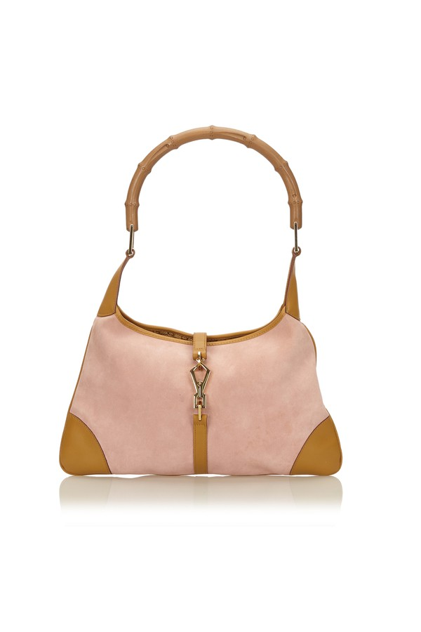 23d19b4c941 Bamboo Suede Jackie Handbag by Vintage Gucci at ORCHARD MILE