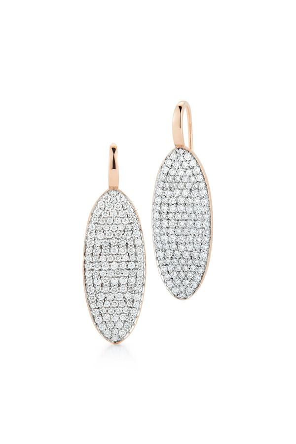 Walters Faith Lytton 18K Diamond Oval Disc Earring DBK1qko