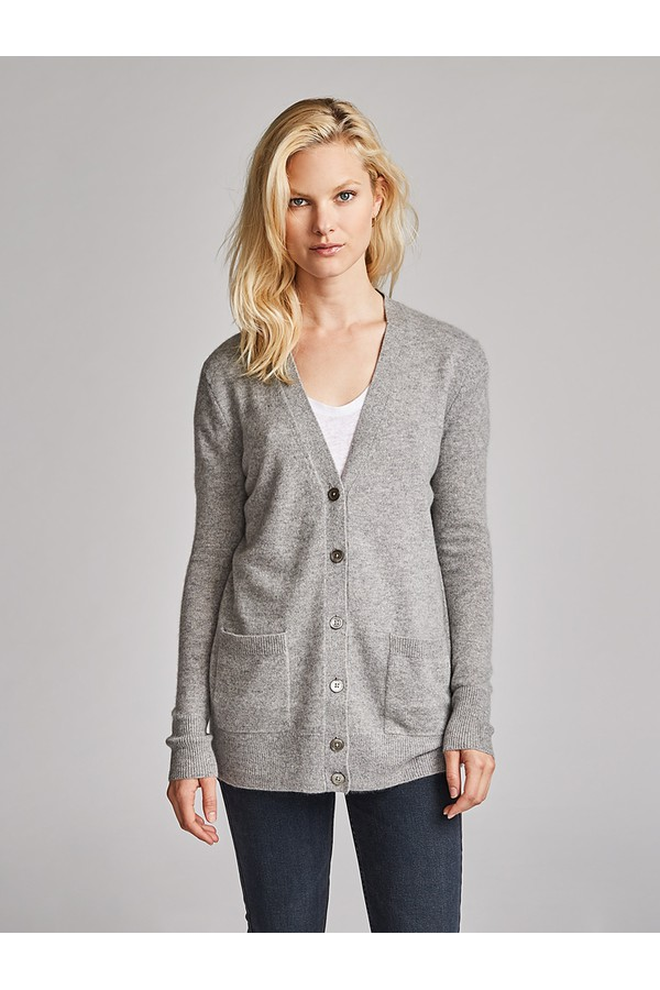 e6fc983a673 Essential Cashmere Boyfriend Cardigan by White + Warren
